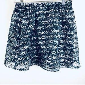 Xhileration sheer floral skirt juniors L